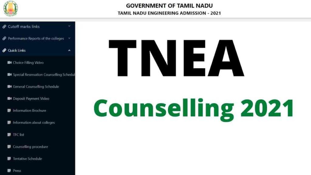 TNEA Counselling 2021 in tamilnadu