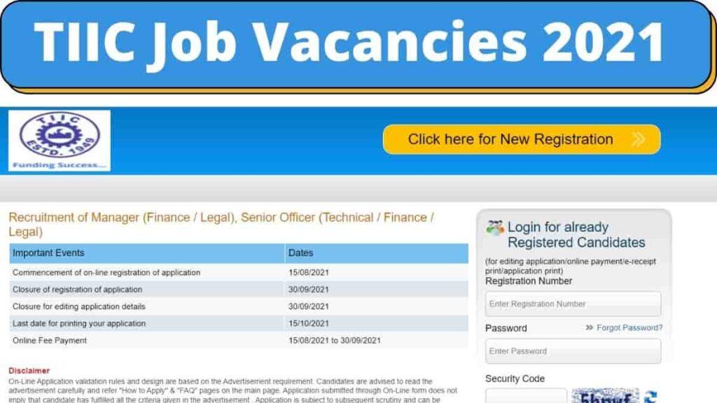 Tamilnadu Industrial 💼 Investment Corporation Recruitment 2021