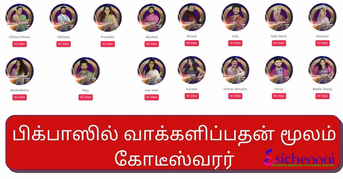 how to see bigg boss vote results tamil